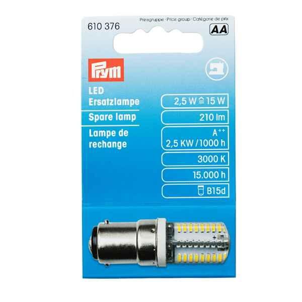 LED Ersatzlampe für Nähmaschinen, Bajonettverschluss PRYM 610376