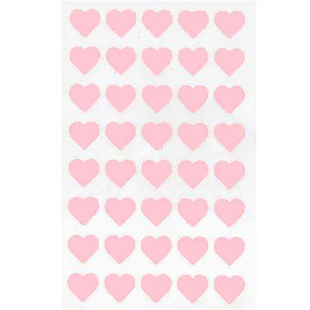 Filzsticker, Herzen klein in rosa, 40 Stück
