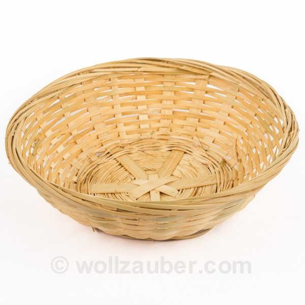 Bambuskörbchen rund Ø 20cm, hell