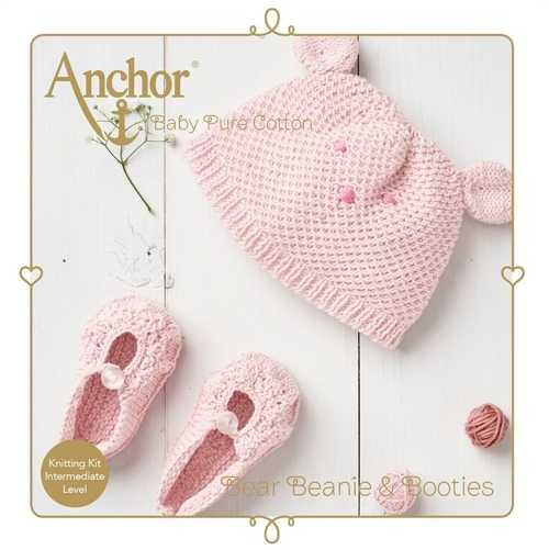 Anchor Bear Beanie & Booties