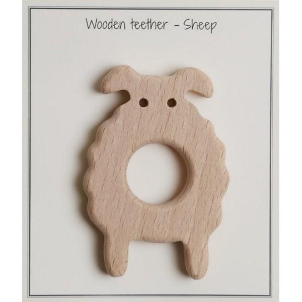 Beissring Schaf aus Buchenholz