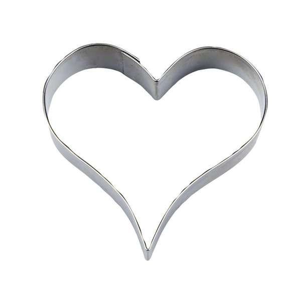Präge-Ausstechform Herz 6,0 cm aus Edelstahl