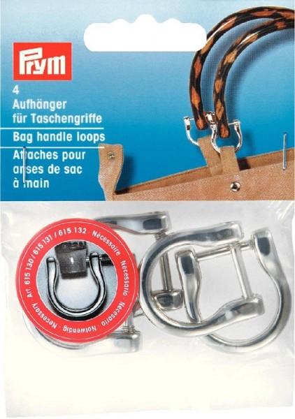Aufhänger für Taschengriffe, 18mm, silberfarbig PRYM 615130