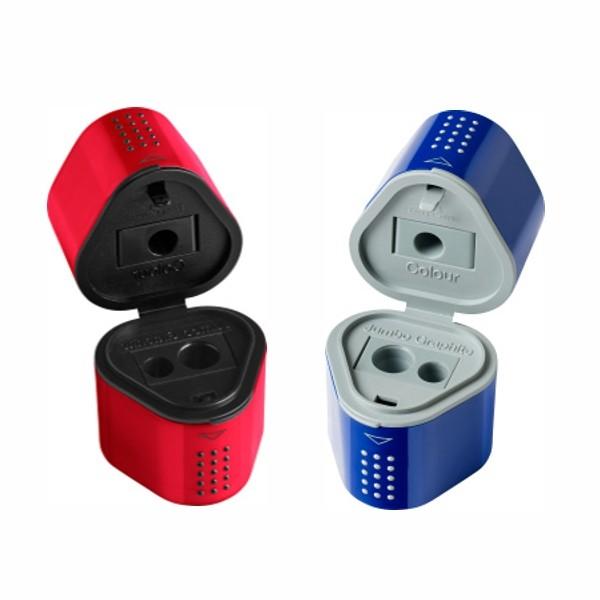 Spitzer Dreifachspitzdose Grip 2001 Blau & Rot Farblich sortiert