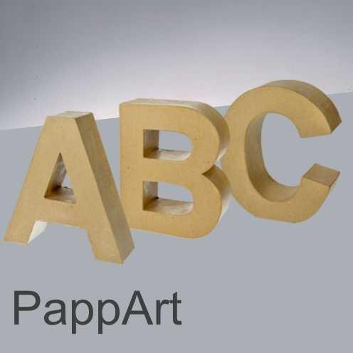PappArt Buchstaben, Zahlen KLEIN, H 100 x T 30 mm