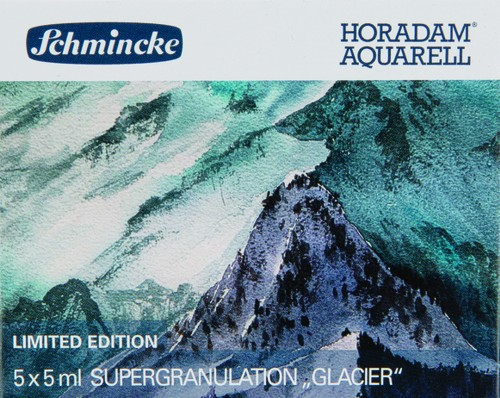 """HORADAM """"GLACIER"""" Aquarell Set 5 x 5ml Supergranulation"""