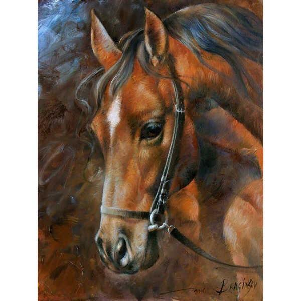 Diamond ART, Daimond Painting 40x30cm, Pferd