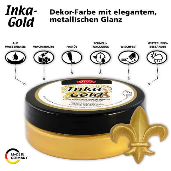 Inka-Gold 62,5g - Sofort trocknende Metallglanzfarbe