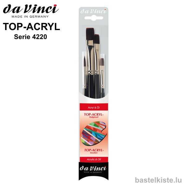 Da Vinci TOP-ACRYL-Malpinselset, Serie 4220