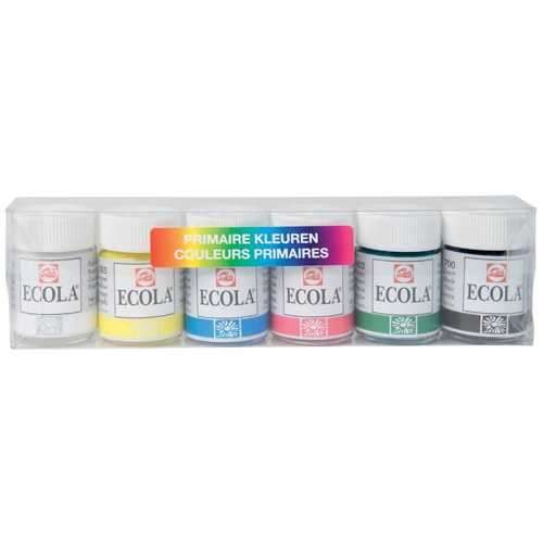 ECOLA Plakatfarbe Set Primärfarben 6 x 16 ml