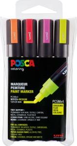 POSCA UNI Farbmarker NEON 4er Set PC5M Ø 1,8-2,5 mm