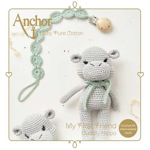Häkelset Cuddly Hippo Anchor