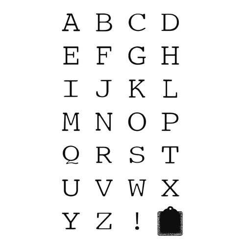 Holzbuchstabenstempel, Groß- & Kleinbuchstaben 2x2cm