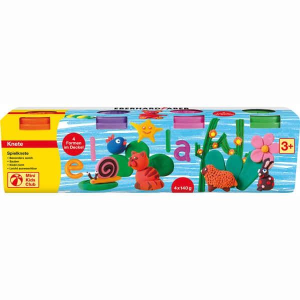 Spielknete 4er Set orange, pink, grün, lila