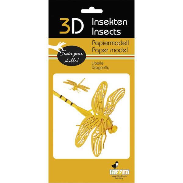 """3D Papiermodell """"Libelle"""" zum zusammenbauen"""