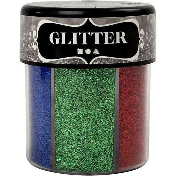 Glitterpulver, Glitzerstreu, Glitter 6 x 13g in einer Streudose