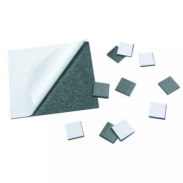 Magnetfolie 15x15x2mm, selbstklebend, 10 Stück