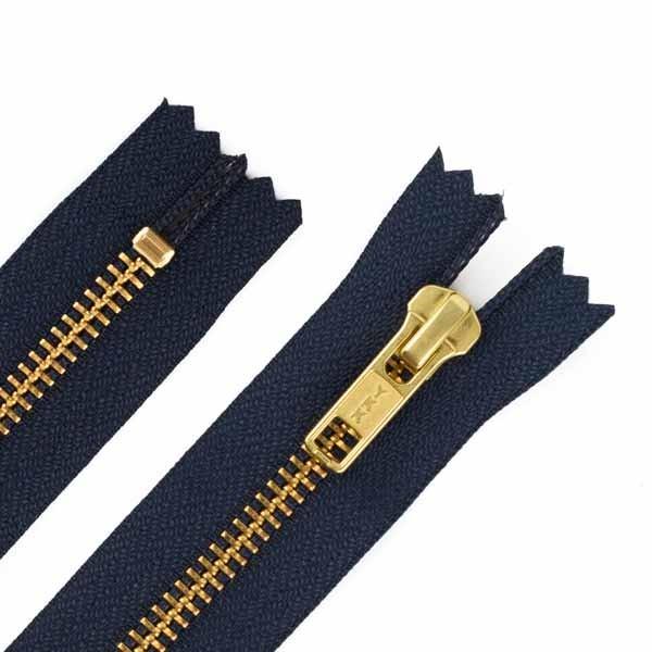 18cm Hosen Reißverschluss Metall Goldzähne 5mm