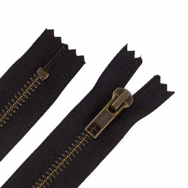 18 cm Hosen Antik Messing Reißverschluss Metall