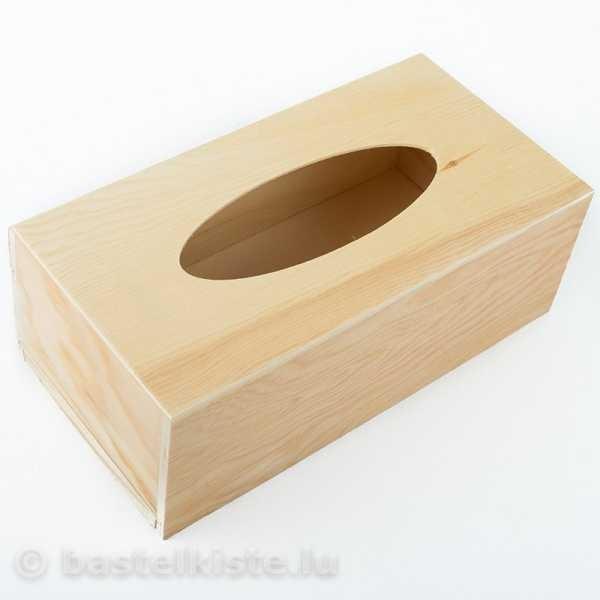 Holz Tücherbox 28 x 14 x 7 cm, natur