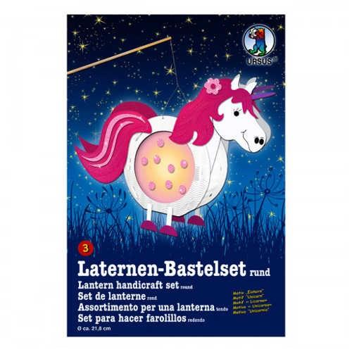 Laternen-Bastelset rund Ø 218mm, Einhorn