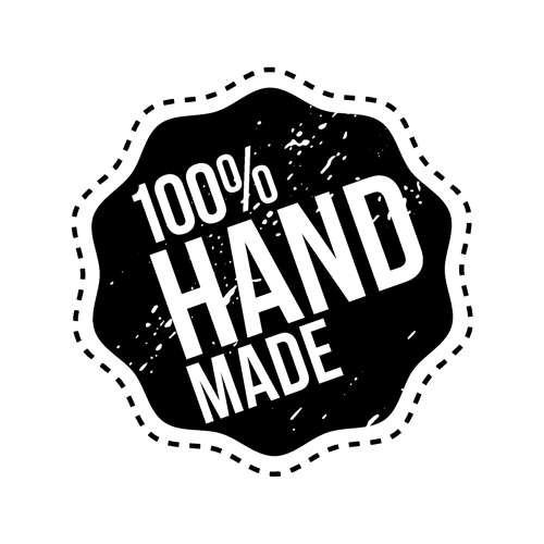 """Holzstempel mit Silikonstempel """"100% HANDMADE"""""""