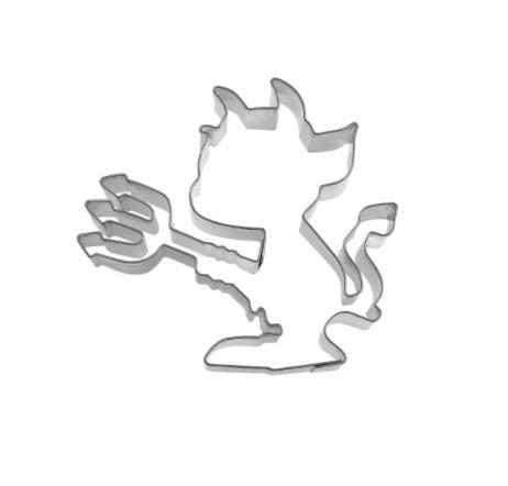 Präge-Ausstechform Teufelchen 7 cm aus Edelstahl