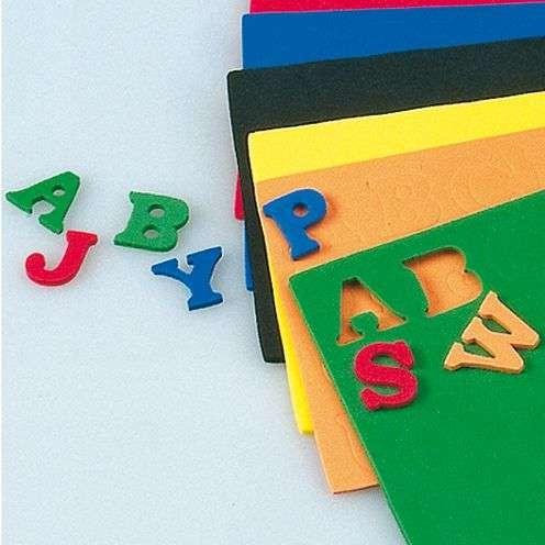 Moosgummibuchstaben 15x2mm, 156 Stück