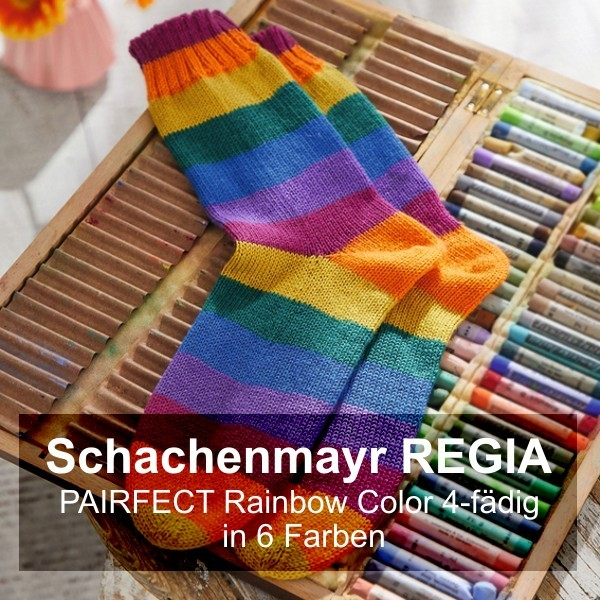 Regia PAIRFECT Rainbow Color 4-fädig