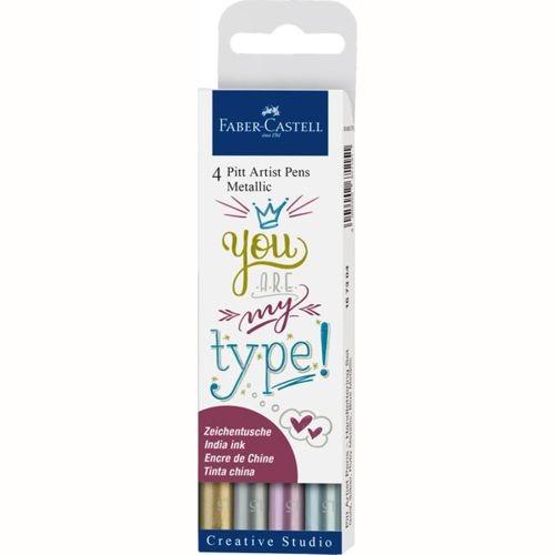Pitt Artist Pen Metallic 1.5 Tuschestift, 4er Etui