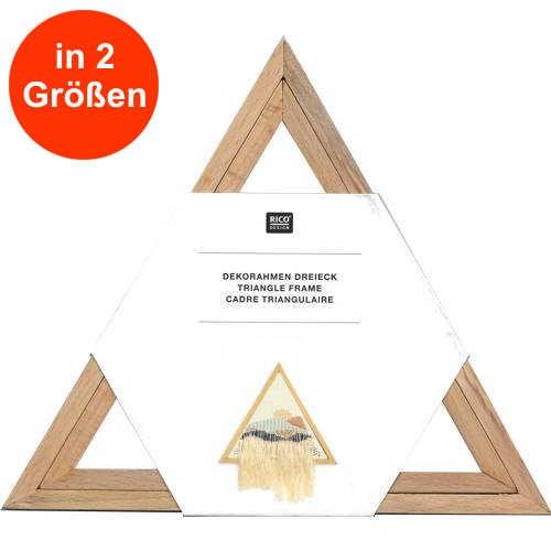 Holz-Dekorahmen Dreieck 2-teilig