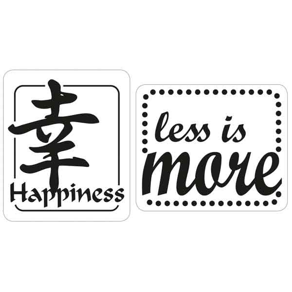 "RAYHER Seifenlabels Happiness, ""less is more"""