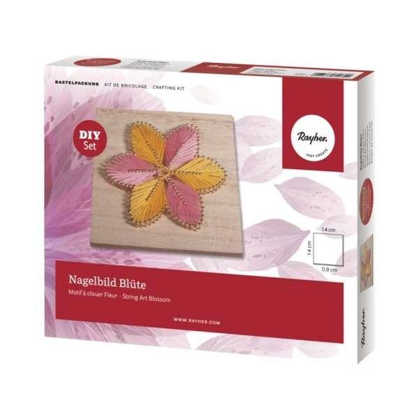 Bastelset, Bastelpackung - Nagelbild Blüte
