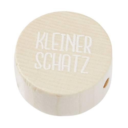 """Holzperle flachnatur """"KLEINER SCHATZ"""""""