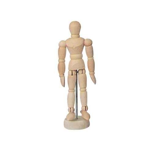 Verstellbare Modellpuppe, Modellfigur 20 cm unisex natur