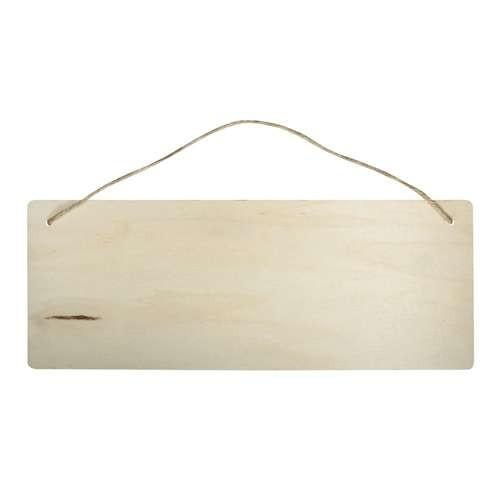 Holzschild in Rechteckform 40 x 15 cm