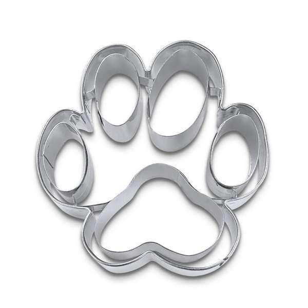 Präge-Ausstechform Hundepfote aus Edelstahl