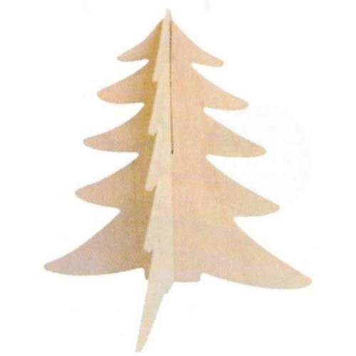 Holztannenbaum 15 x 12 cm, 2 Stück
