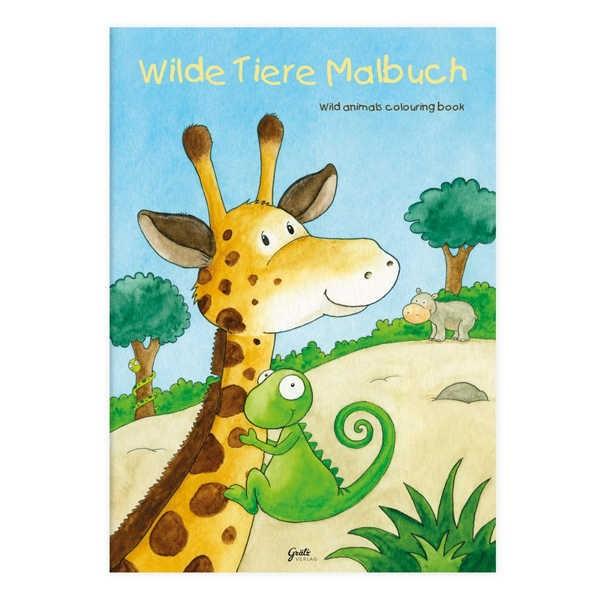 Malbuch Wilde Tiere DIN A4, 24 Seiten