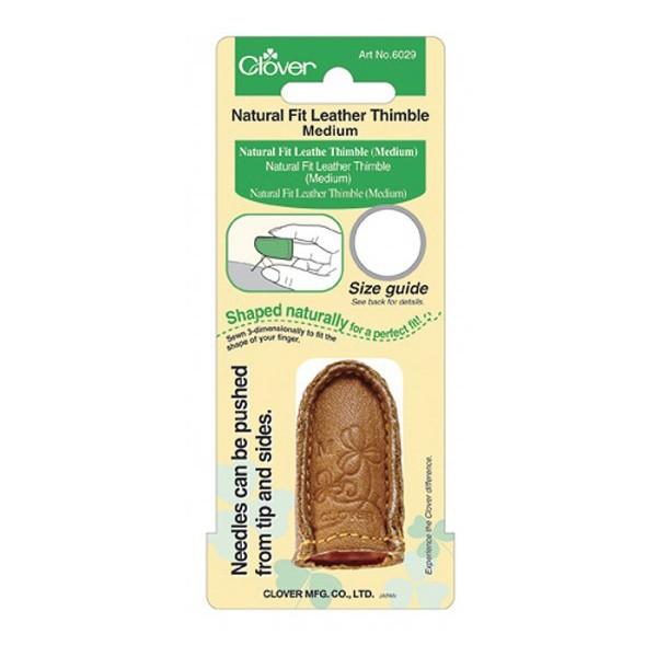 Lederfingerhut mit natürlicher Passform CLOVER 6029