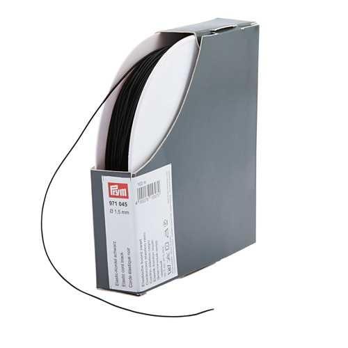 Elastic Kordel Großpackung schwarz Ø 1,5 mm Rolle 100m