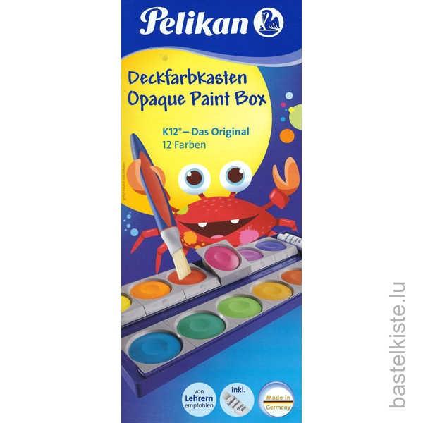 Pelikan Wasserfarben, Deckfarbkasten K12 inkl. Deckweiß