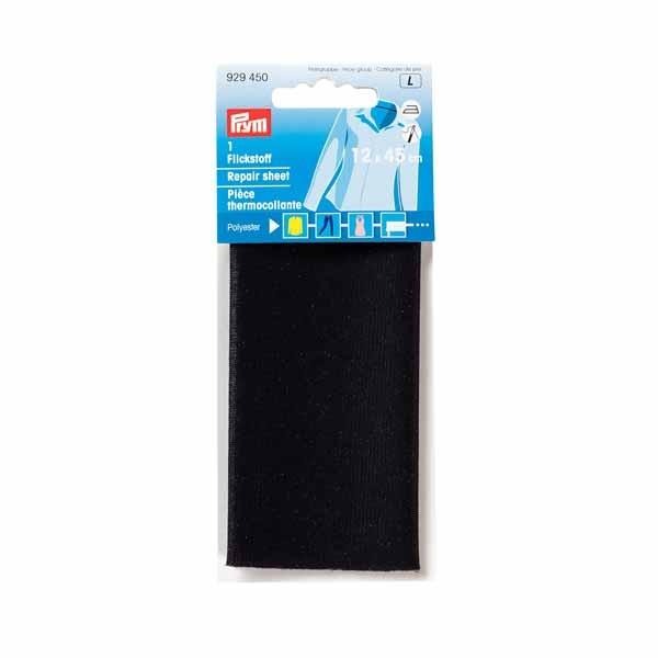 PRYM 929450 Flickstoff zum Auf bügeln, 12 x 45cm, schwarz