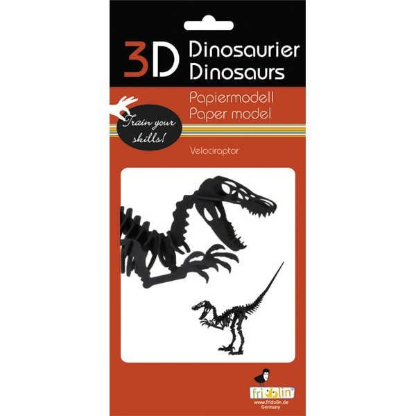 """3D Papiermodell """"Velociraptor"""" zum zusammenbauen"""