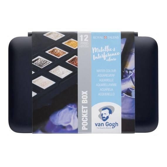 Aquarell Pocket Box 12er Metallic & Interference