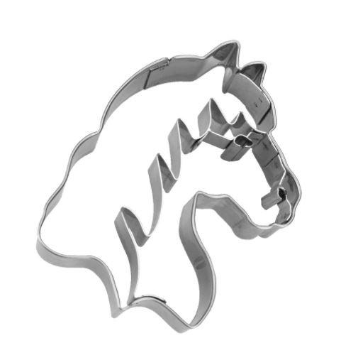 Präge-Ausstechform Pferdekopf 7,5 cm aus Edelstahl