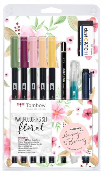 ABT DUAL BRUSH PENS Watercoloring Set Floral