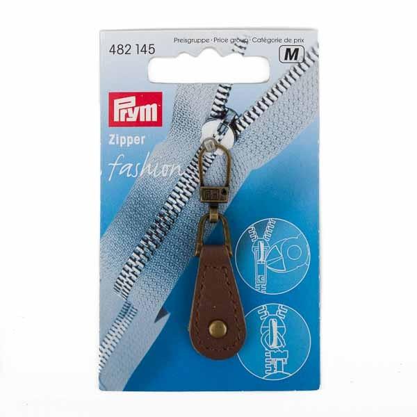 PRYM Fashion-Zipper Leder braun, 1St