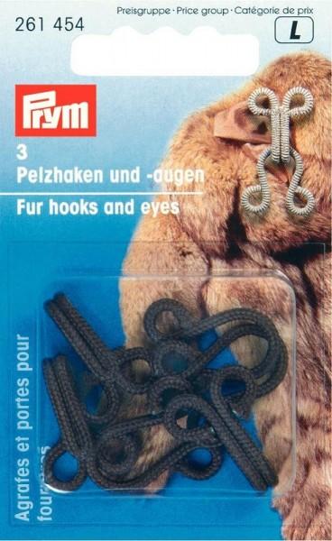 Pelzhaken / Augen braun, 3St PRYM 261454