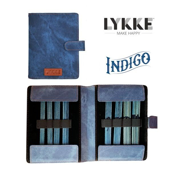 "LYKKE Double-point INDIGO 6"" Strumpfstricknadel-Set"